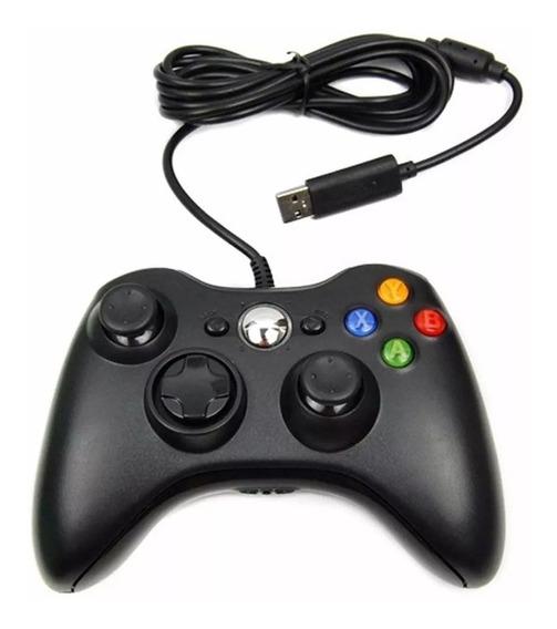 Controle Xbox 360 X-box Videogame Computador Laptop Fio Usb