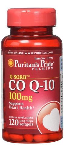 Coenzima Co Q-10 100 Mg Antioxidant Corazon Energia 120caps.