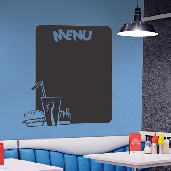 Adesivo Parede Lousa Quadro Negro Escrita Giz Cozinha 85x75