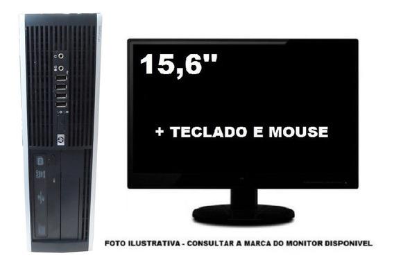 Computador Hp Dualcore 4gb Ddr3 120gb Ssd - Seminovo