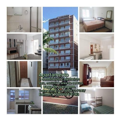 Imagem 1 de 14 de Apartamento Para Temporada-ocian- 2 Dor- De Frente Pra Praia