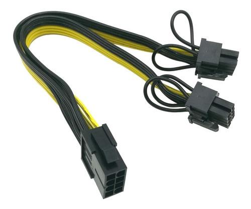 Cable Multiplicador Pci Express De 6 U 8 Pin A 2 X (6+2)