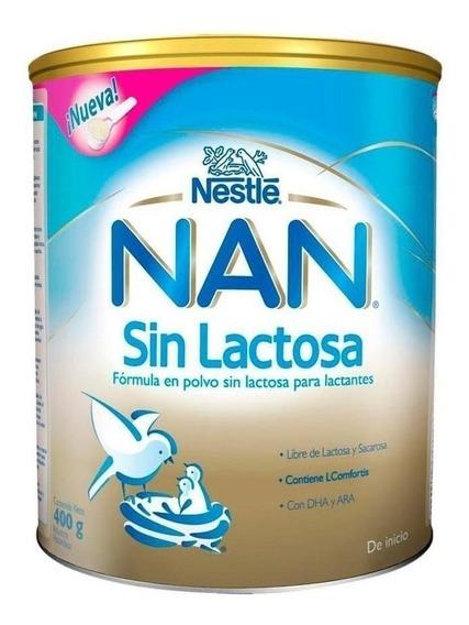 Fórmula para lactantes en polvo Nestlé Nan Sin Lactosa en lata de 400g