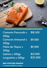 Pescados Y Mariscos Crudos A Domicilio.. Desde $9.000.