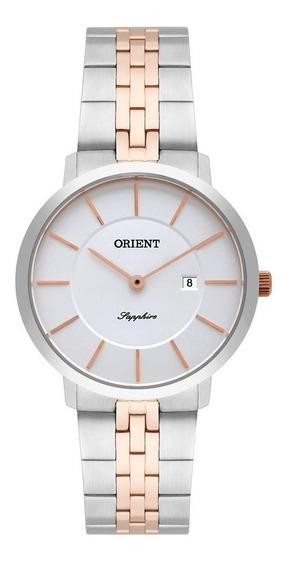 Relógio Orient Feminino Ref: Ftsss004 S1sr Slim Bicolor