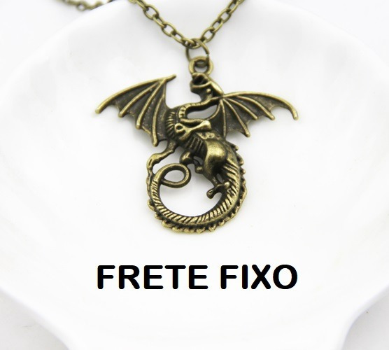 Colar Game Of Thrones Dragão Targaryen ( Frete Fixo)