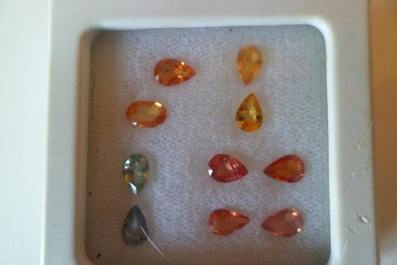 Safiras Amarelas, Laranjas, Verdes - Lapidações 5,5 Ct