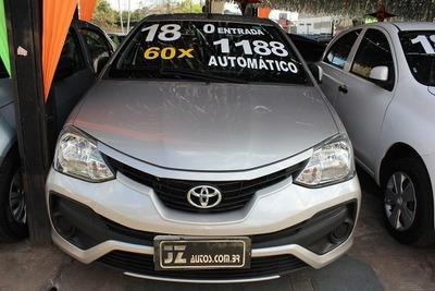 Toyota Etios Sedan Xs 1.5 Automático Sem Entrada 60x 1.168,0
