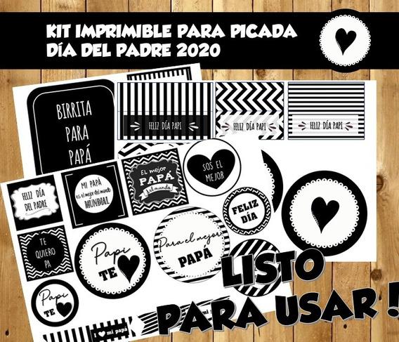 Kit Imprimible Picada Día Del Padre- Modelo 1