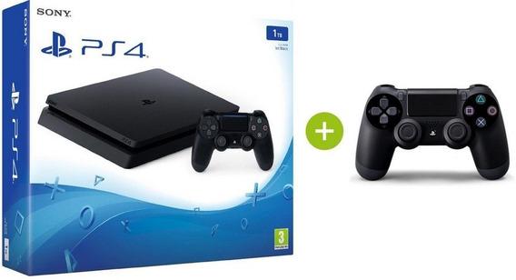 Playstation 4 - Slim - 1 Tb + 1 Controle Brinde Novo