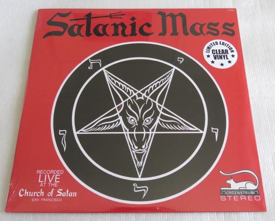 Anton La Vey The Satanic Mass Lp Clear Behemoth Venom Slayer