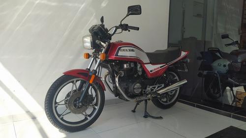 Imagem 1 de 8 de Honda Cb 450 E Vermelha 1984 Impecável Placa Preta