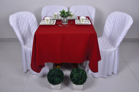 Toalha Mesa Branca Oxford 1,50x1,50 Festa Buffet 10 Pcs