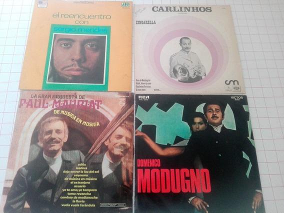 Lote De 4 Discos De Vinilo Música Internacional D012