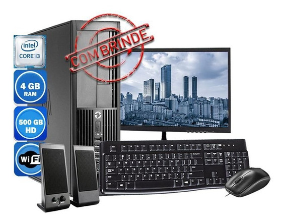 Computador Pc Hp 4300 Intel Core I3 4gb Hd 500gb Wi-fi