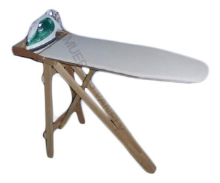 Resistente Burro Para Planchar Acojinado Plegable De Madera Con Descansa Plancha Tabla Para Planchar