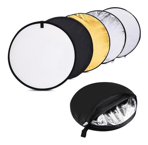 Disco Reflector Luz Plegable 5 En 1 80 Cm Fotografìa Y Video