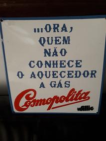 Placa Antiga Esmaltado Fogão Wallig