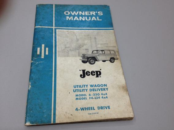Manual Proprietário Willys - Rural Jeep - Owner´s - Antigo
