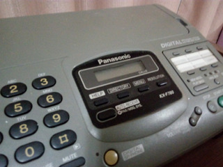 Fax Panasonic Kf 780 Papel Termico Para Colecionadores Top