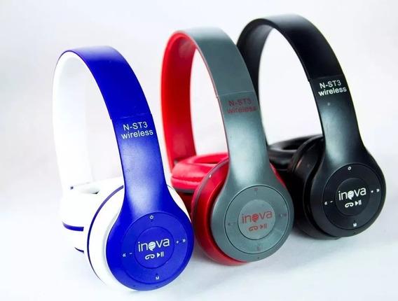 3 Fone De Ouvido Headphone Sem Fio Bluetooth Sd Fm N-st3