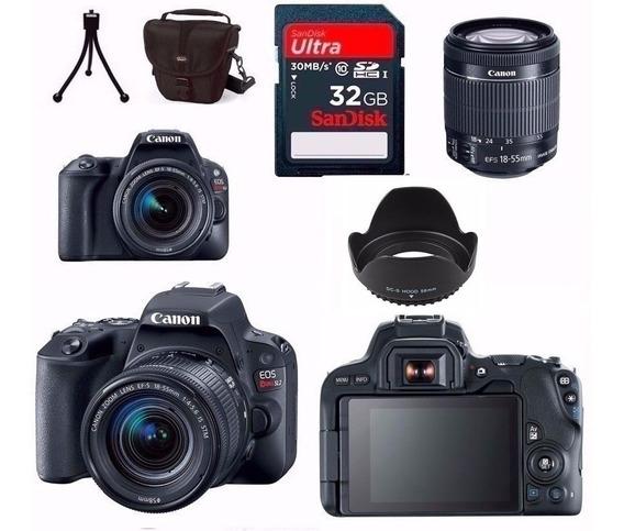 Câmera Canon Eos Sl2+18-55+bolsa+tripé+32gb+para-sol Rev.aut