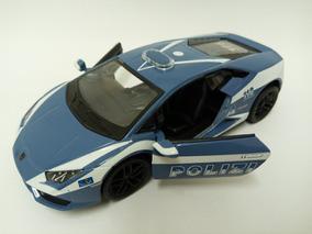 Miniatura Lamborghini Huracán Lp610-4 Polícia 1:36 Kinsmart