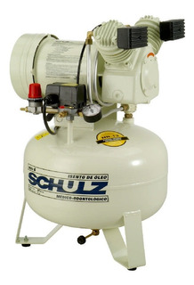Compressor Ar Odontológico 30l 1cv Silencioso Msv6/30 Schulz