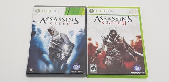 Jogos Assassins Creed 1 E 2 - Xbox 360 - Original