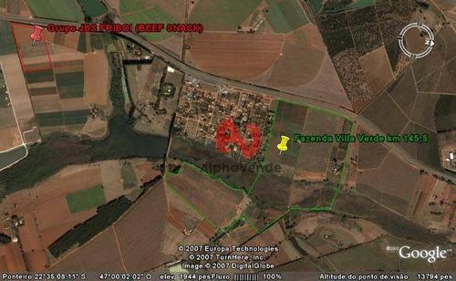 Área À Venda, 723872 M² Por R$ 106.000.000,00 - Vista Alegre - Santo Antônio De Posse/sp - Ar0071