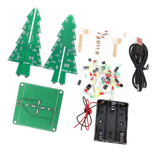 Imagen 1 de 11 de Kit De Flash Led Colorido De Árbol De Navidad Rgb +
