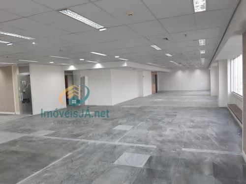 Excelente Sala Comercial  Com Antesala/recepção - Open Space - Piso Elevado E Luminárias, 479 M², 06 Banheiros, 01 Copa - 809