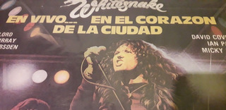 Vinilo Whitesnaje , En Vivo ,,en El Corazon,nuevo, Enrego Ya