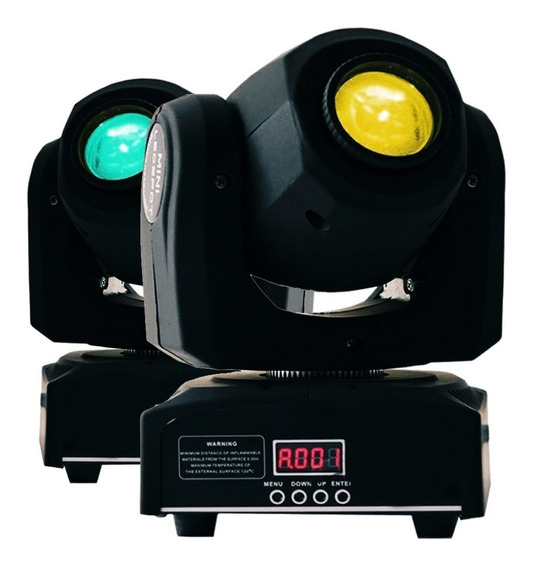 4 Moving Head Spot Led Osram 20w Gobo + Mesa Dmx
