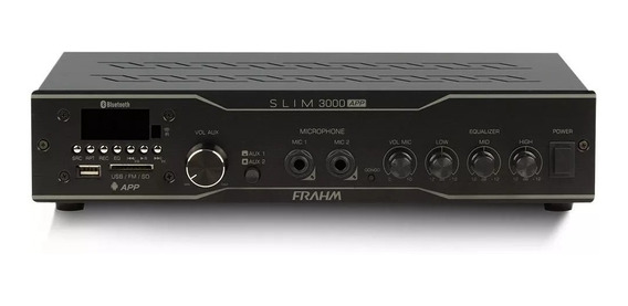Receiver De Som Frahm Slim 3000 App G2 200w Rms Fm Usb