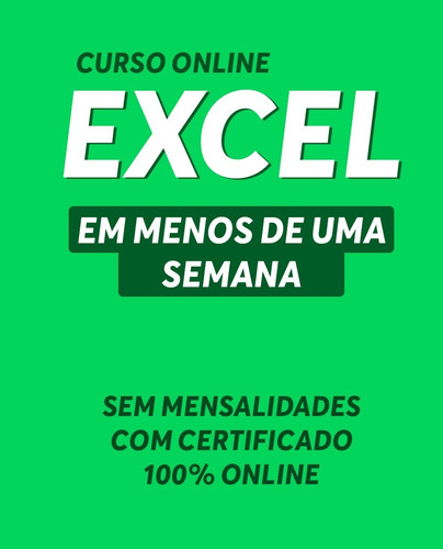 Curso Excel Online Com Certificado Para Horas Complementares Mercado Livre