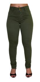 Kit 4 Calça Jeans Feminina Cós Alto Levanta Bumbum Atacado