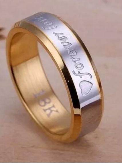 Anel Forever Love Banhado A Ouro 18k Feminino
