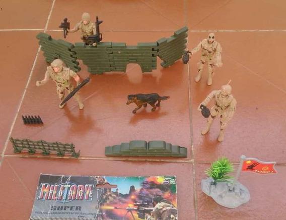 Juguete Niños Set De Soldados Con Accesorios Economico