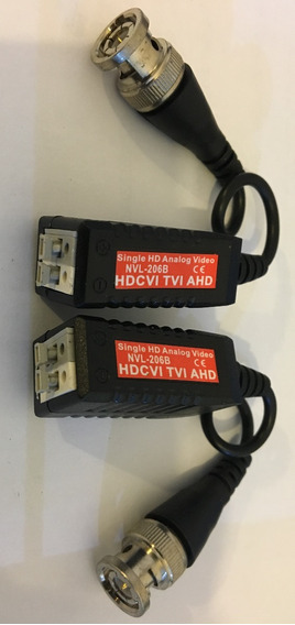 Kit C/08 Pares Video Balun P/ Cameras Hd, Hdcvi