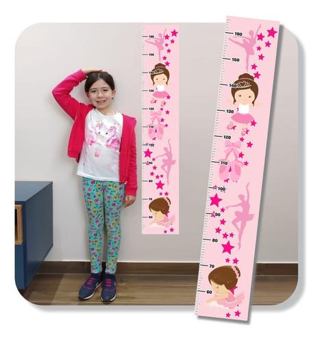 Imagem 1 de 5 de Adesivo Régua Crescimento Bailarina Infantil Mod 41