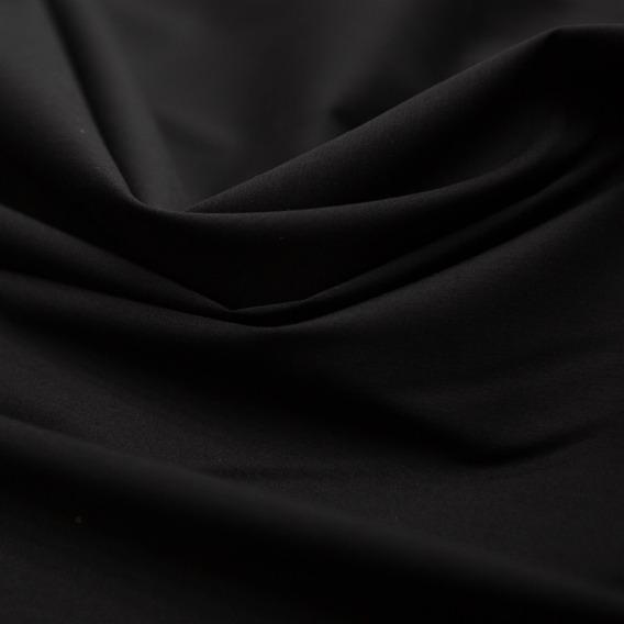 Tecido Tricoline Com Elastano Preto