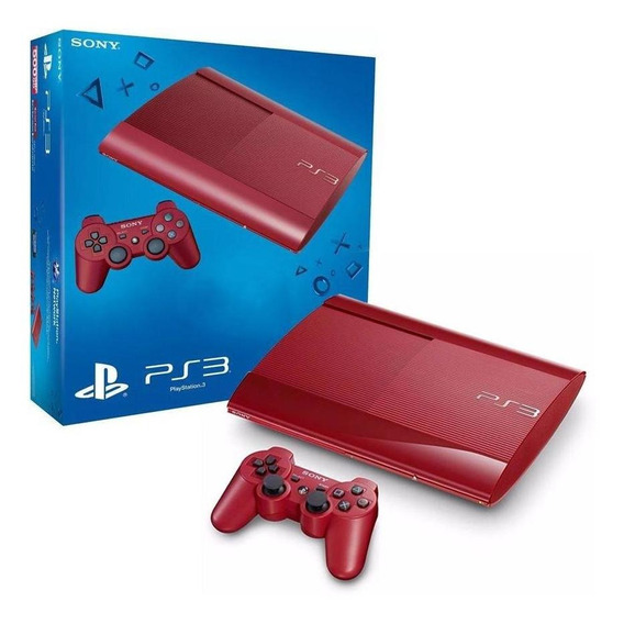 Console Playstation 3 Super Slim Vermelho 500gb Sony