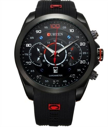 Relógio Curren 100 Masculino Importado Original Borracha