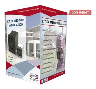 Kit Caja Medidor Pilar Monofasico Edenor Termica Disyuntor Y Caño Corrugado De Conexión Conextube