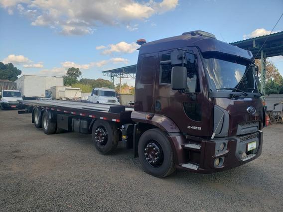 Ford Cargo - 2429 - 8x2 - 2013 - Plataforma Guincho