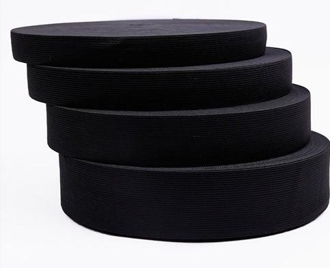 Imagen 1 de 3 de Elástico Extra Reforzado Negro De 6cm 29 Metros