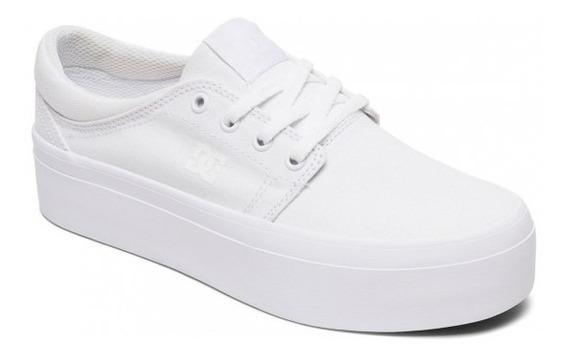 Zapatillas Dc Mujer Trase Platform Blanca Moda Envios Gratis