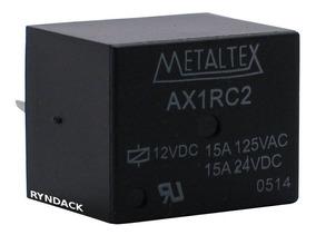Kit 10 * Rele Metaltex 12v 15a 1 Contato Reversível Ax1rc2