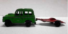 Vintage 1969 Land Rover Tootsie Toy Con Remolque (usado)
